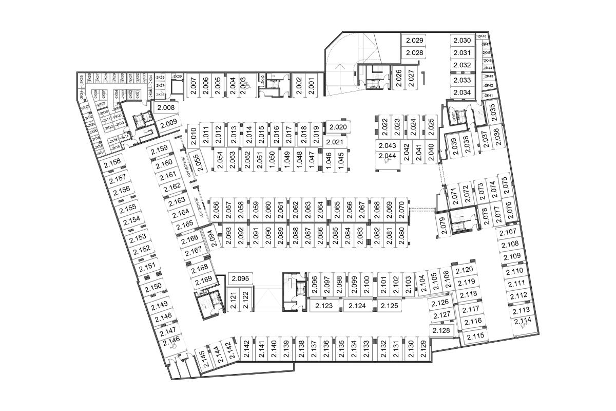 Budynek 1 Piętro -2